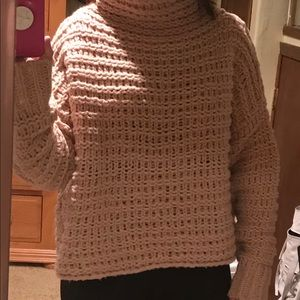 Free People Sweaters - Free People soft pink funnel neck sweater XS